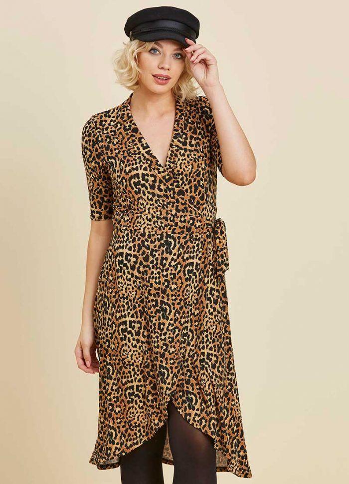 c05c3ad21bd4d3 Lotta Leopard Print Wrap Dress | Halloween BOO-tiful! | Wrap Dress ...