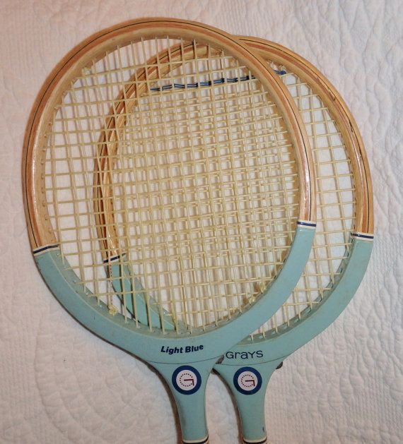 Two Wooden Squash Rackets by Buddhagal on Etsy