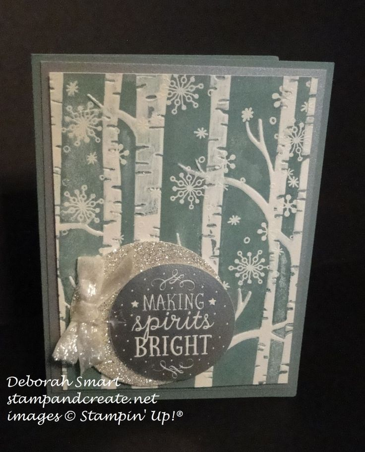woodland embossing folder and through the branches stamp set details in this post http://stampandcreate.net/making-a-good-impression/
