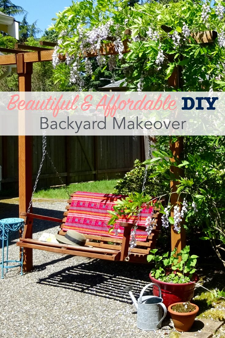 Beautiful And Affordable DIY Backyard Makeover