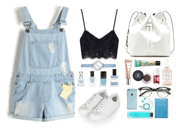 """""""Untitled #4"""" by wennynagane on Polyvore featuring Herbivore Botanicals, Topshop, Anastasia Beverly Hills, Sole Society, GUESS, Deborah Lippmann, LVX, Benefit, Giorgio Armani and FOSSIL"""