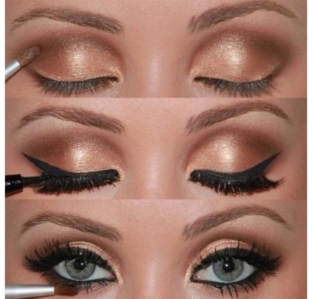 Brownish tannish makeup DIY