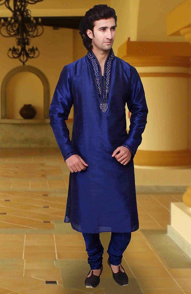 Alluring Blue Kurta Pyjama set