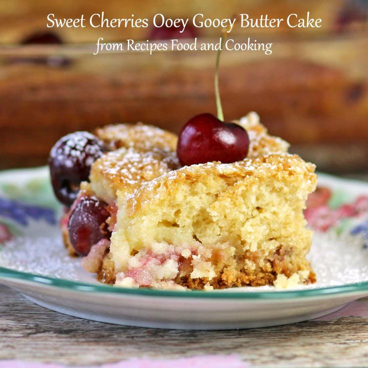 Sweet Cherries Ooey Gooey Butter Cake