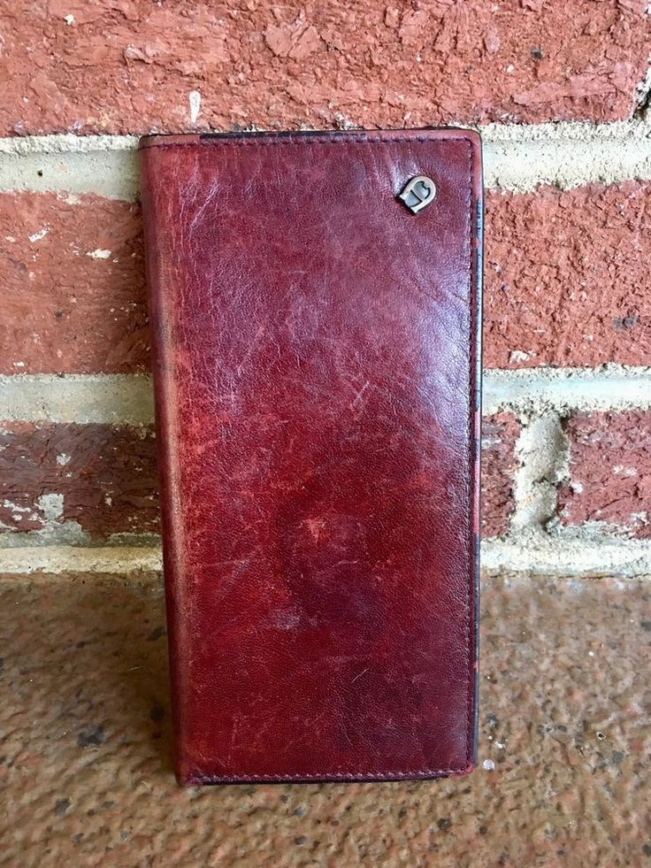 Vintage Etienne Aigner Classic Burgundy Leather Checkbook Cover, FREE SHIPPING  | eBay