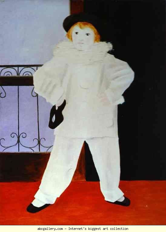 Pablo Picasso. Paulo, Picasso's Son, as Pierrot. Olga's Gallery.