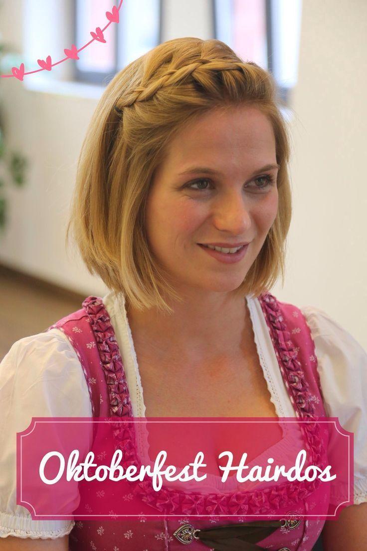 Pin Von Elfrida Blog Auf Wedding In 2020 Dirndl Frisuren Kurze Haare Dirndl Frisuren Kurz Flechtfrisuren Kurze Haare Dirndl