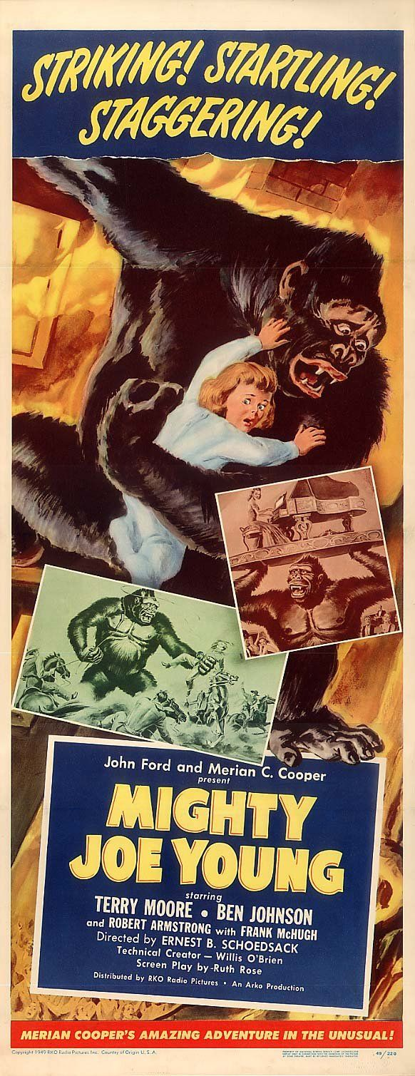 "Mighty Joe Young - 1949 ~ It was this film that Ray got to work with his mentor "" Willis H. OBrien "" and also the film that launched his career for the next 3 decades. The Oscar for SPECIAL VISUAL EFFECTS was introduced at the 1950 Academy Awards and it was accepted by Willis O'Brien even though Ray did 80% of the Animation."