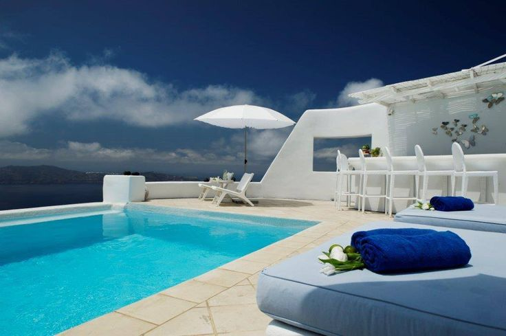 Why walk to the #beach when you can swim from your suite at Astra #Santorini?