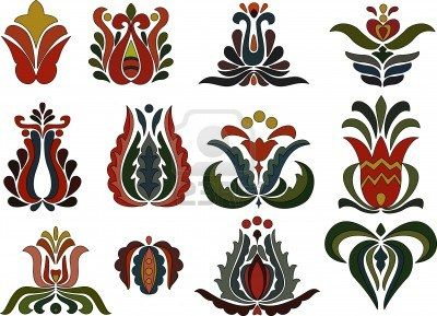 Colorful flower motifs Stock Photo - 15215312