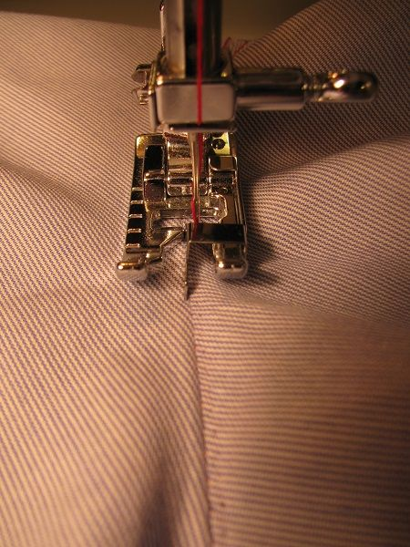 sewing with a edge-stitch presser foot