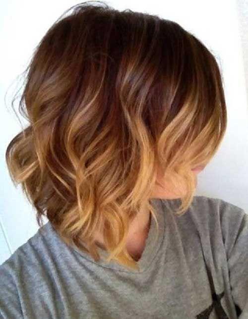 Dark blonde ombre short hair