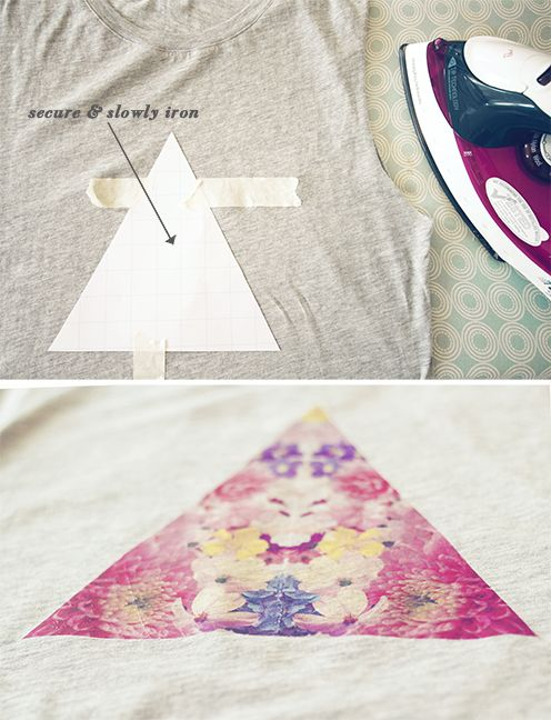 DIY printed T-shirt! I wanna do this!