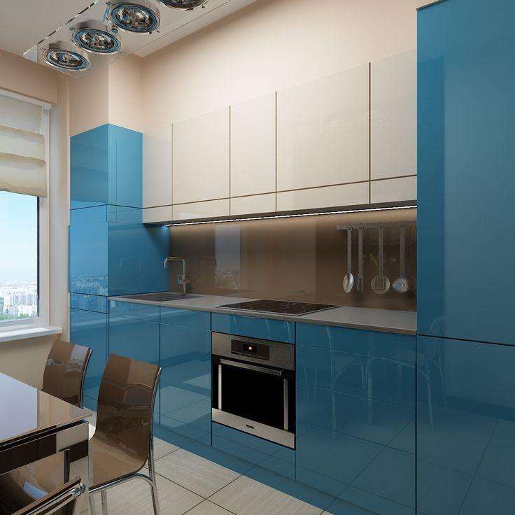 В интерьере такой яркой и приятной кухни не способен начаться ни один серый день! Интерьер создан студией Татьяны Зайцевой.