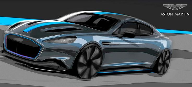 Aston Martin RapidE en 2019 sketch.3