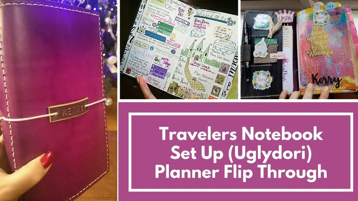 Travelers Notebook Set Up (Uglydori) Planner Flip Through of my diary, weekly and Monthly pages set up - Kerrymay._.Makes