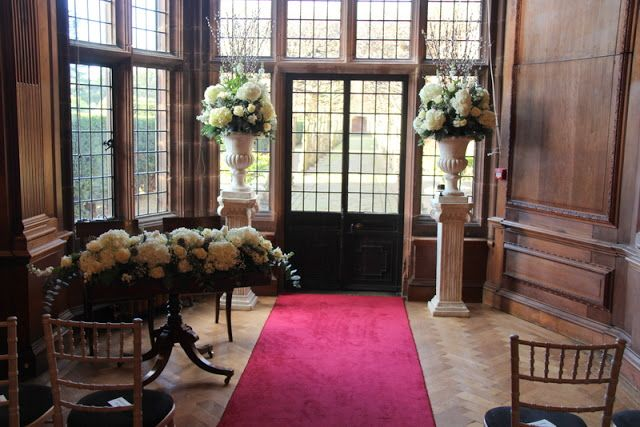Flower Design Events: Lillie & Graham's Snowflake Silver Grey & White Wedding Day at Thornton Manor