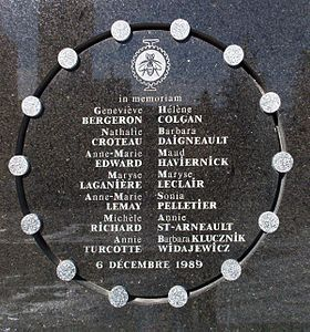 Image illustrative de l'article Tuerie de l'École polytechnique de Montréal