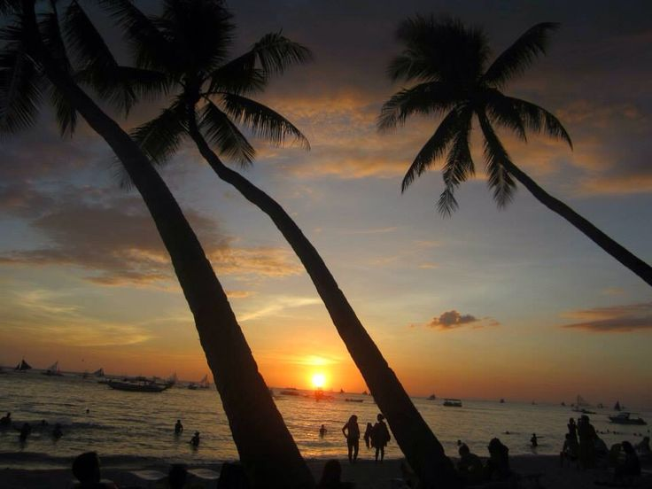 Sunset at White Beach Boracay, the Philippines