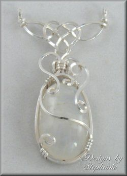 Wire wrapped stone pendant...beautiful