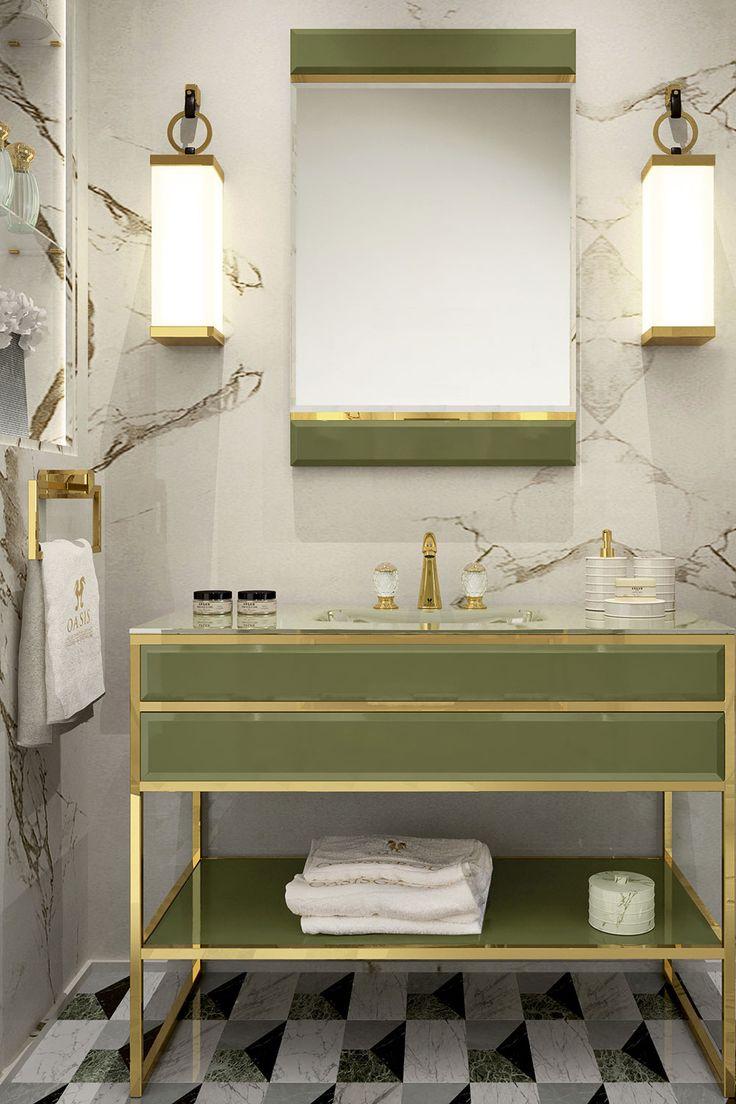 Green and gold bathroom furniture doesnu0027t