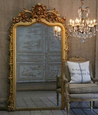 11 best images about antique gold on pinterest floor for Gold standing mirror