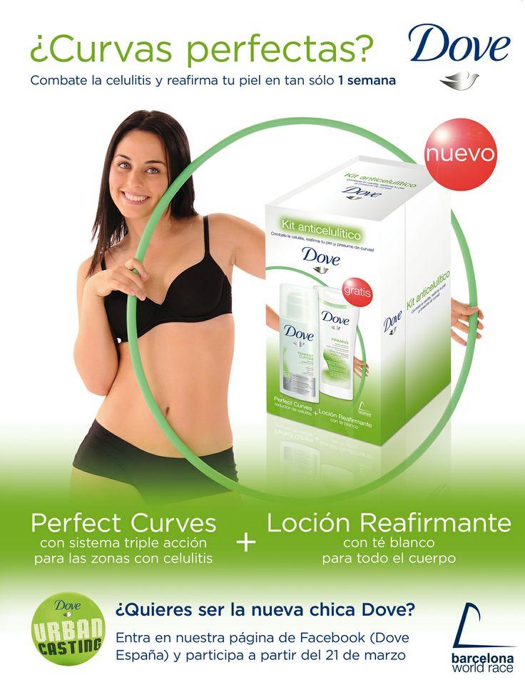 """Página de publicidad para el """"pack curvas perfectas"""" de Dove.  2011 - Unilever"""