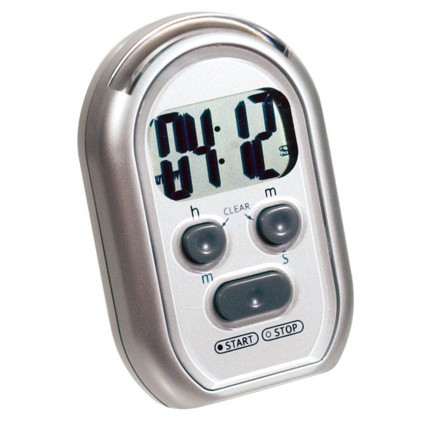 Quake-N-Wake 3-Alert Multi Timer - Silver - Timers - Thermometers - MaxiAids