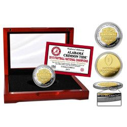 Alabama 2015 College Football National Champions Two-Tone Mint Coin