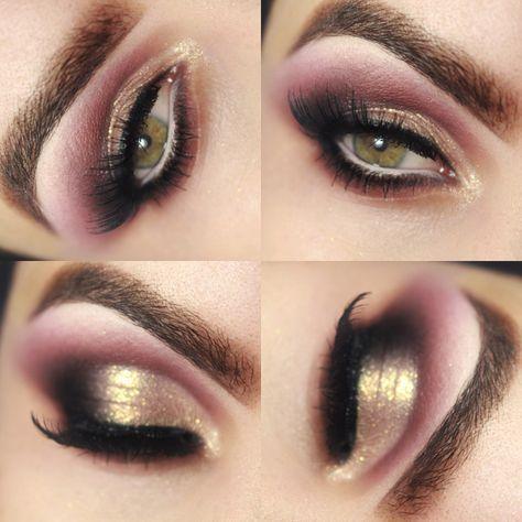 Tutorial – maquiagem diva com vinho e Toque de Dourado