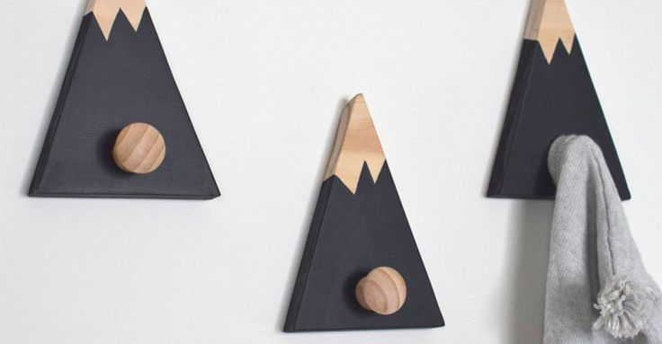 Etsy find of the day - mountain wall hooks #Decor, #Etsy, #Nursery, #Storage