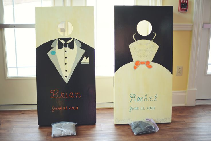 My Wedding Cornhole Boards!