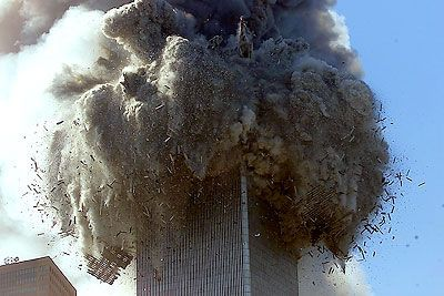 Twin Towers falling