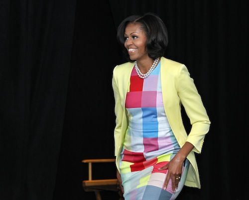 Mrs.O - Fashion and Style of First Lady Michelle Obama:  she stays casket sharp!  Dig the cut-away jacket, too!