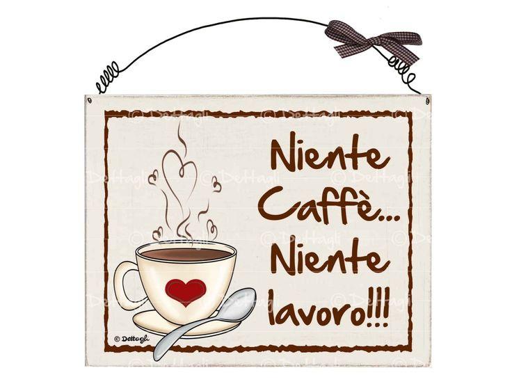 targhetta  niente caffe