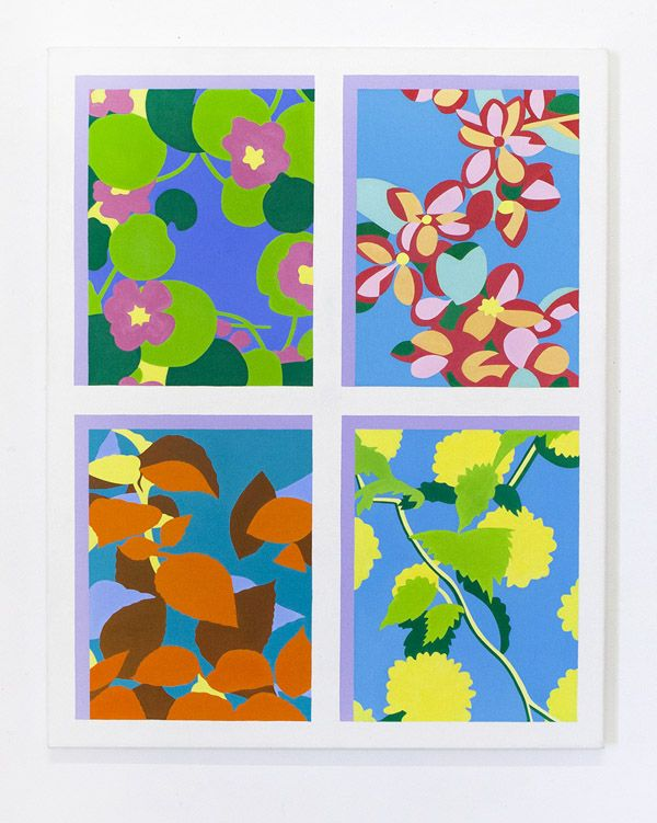 MKidd-Four views, 2013, oil on canvas, 61 x 76cm