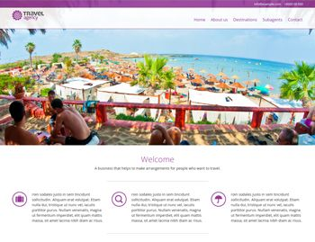 Travel Agency template  Great web design  #webdesign #template #premadetemplate #resources #blog