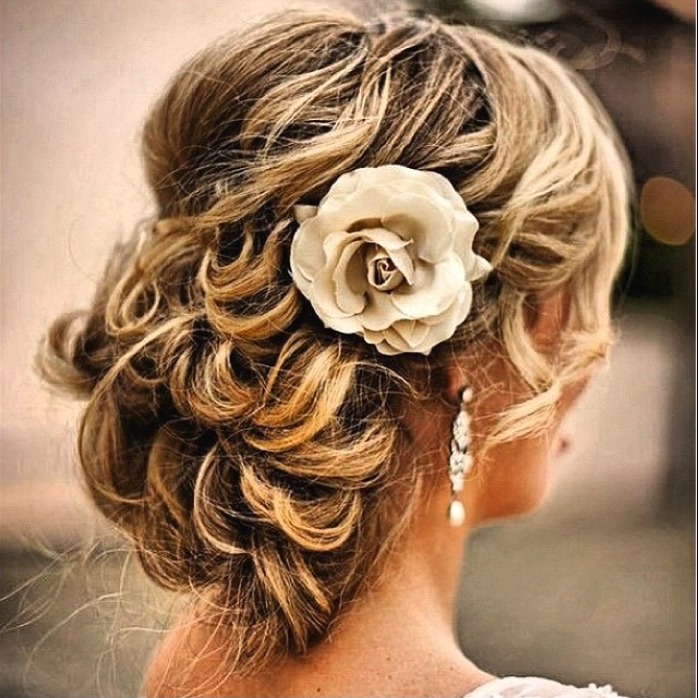 Pretty bride up-do for the wedding!