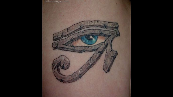 Blue Egyptian Eye Tattoo