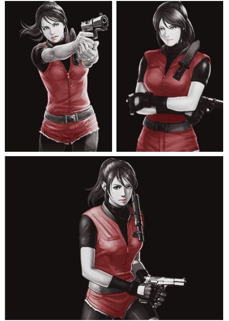 Claire Redfield Resident evil 2 fanart