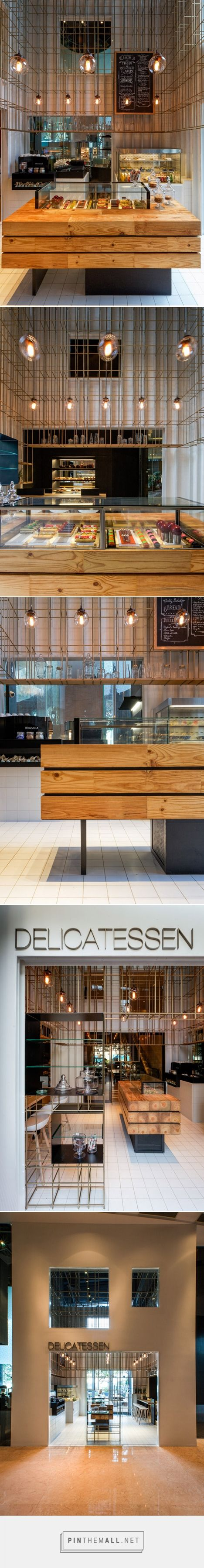 Brass cage structure inserted into Shenzhen patisserie by Linehouse... - a grouped images picture - Pin Them All