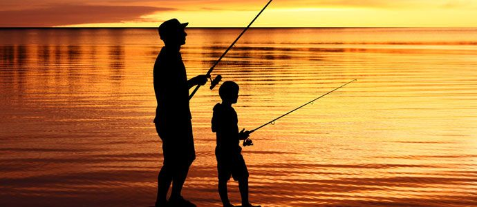 Imgs for father and son fishing silhouette social for Father son fishing