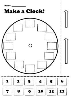 Children get to make a clock on their own!Great activity to use when teaching…