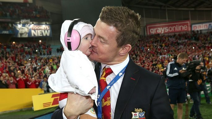 The Lions are coming! Team stalwart Brian O'Driscoll's baby Sadie wears Baby Banz Mini Muffs to the game - how about your kids? $44.50 - $49.99.