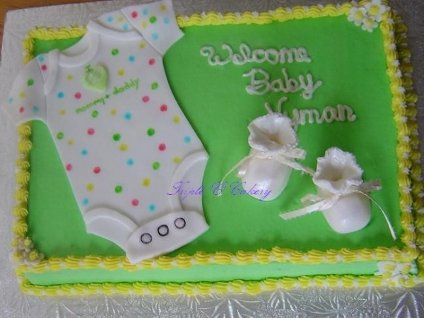 Baby Cake! great idea when you don't know the sex too!