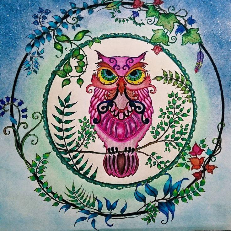 Floresta Encantada Garden OwlColoring BooksColouringJohanna