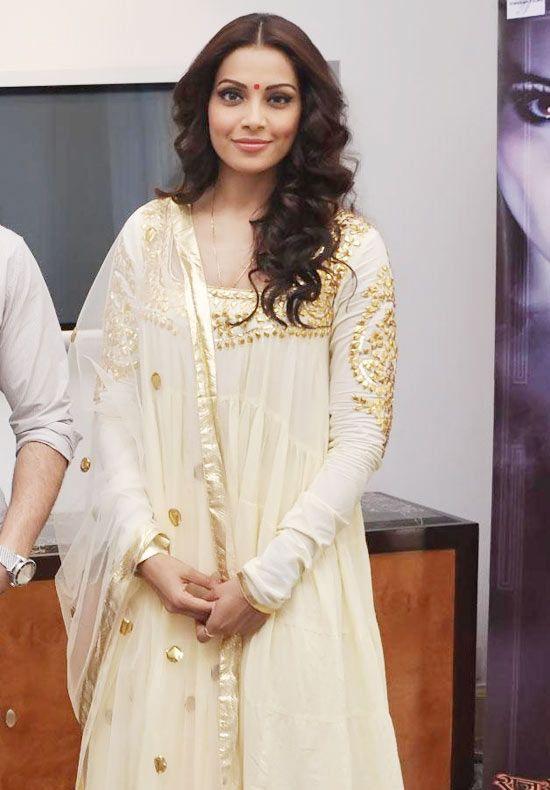Beautiful cream and golden anarkali salwar suit