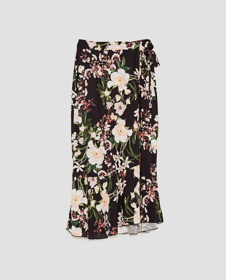 Image 8 of PRINTED WRAP SKIRT from Zara