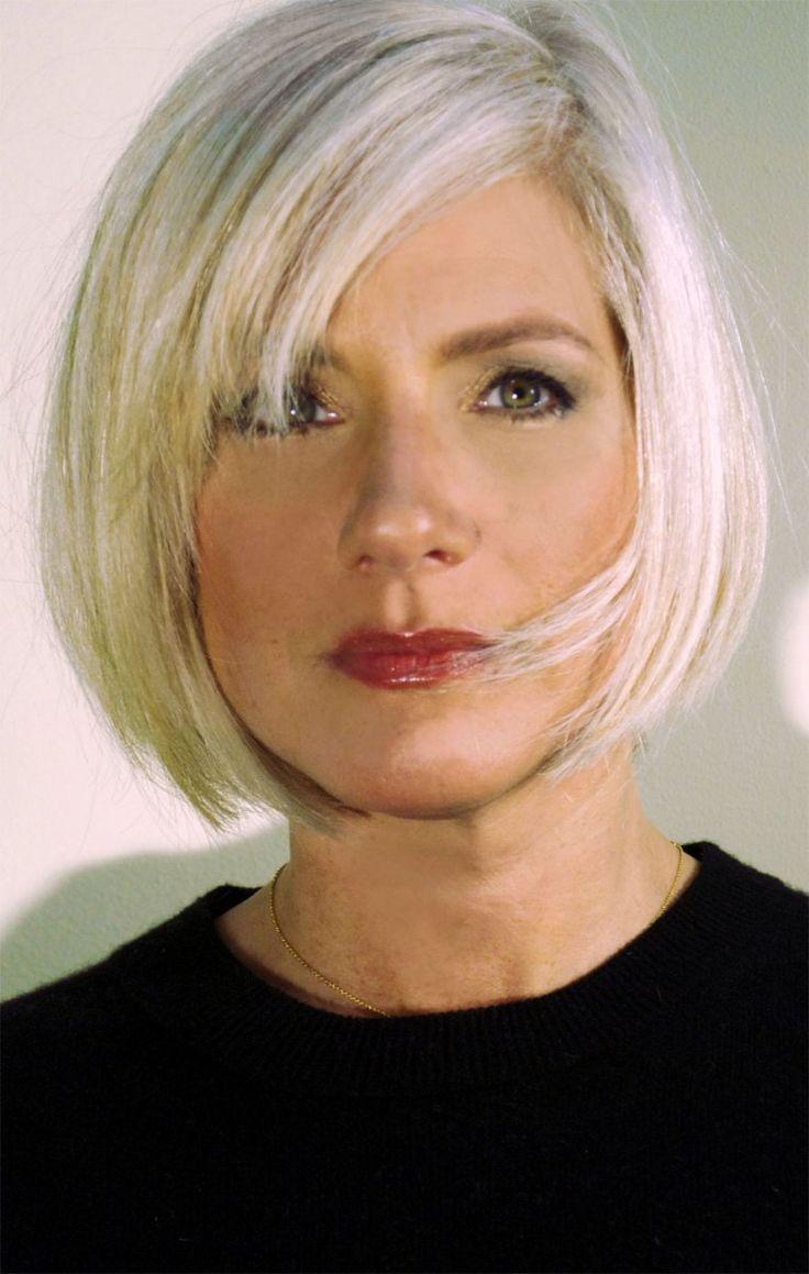 annie- short gray hairstyle