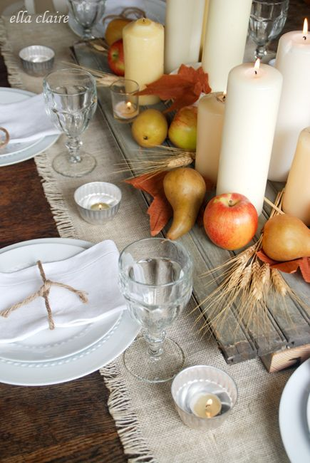 Love this autumn tablescape @ellaclaireinspired